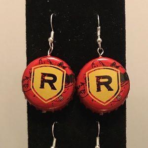 Reds bottle cap earrings!